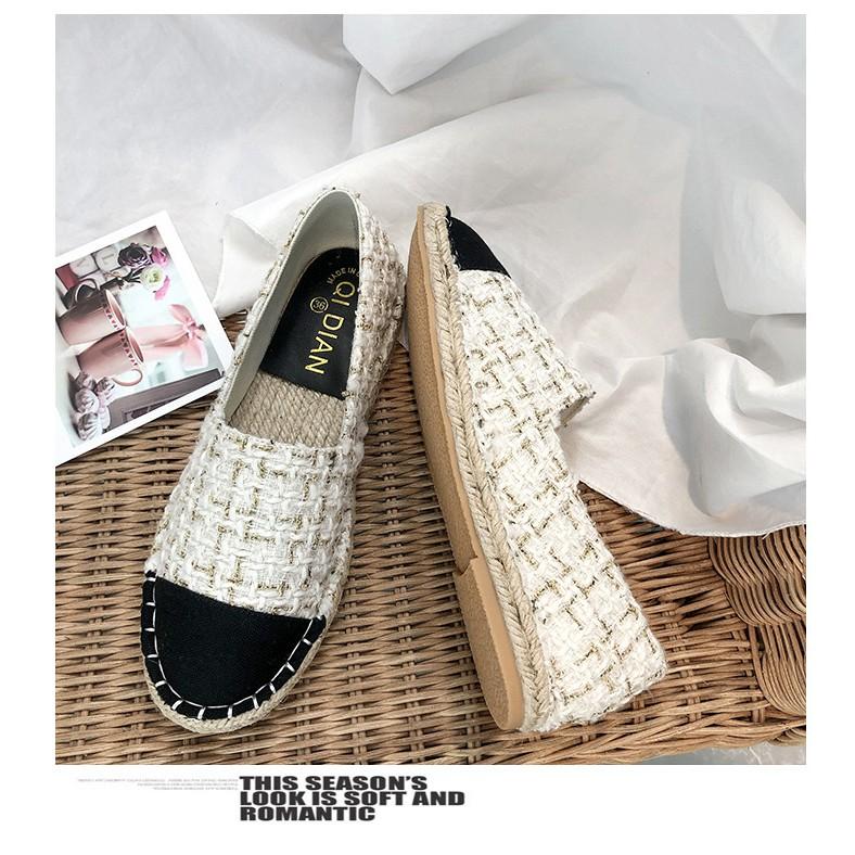 [Sẵn] Giày loafer đế cói