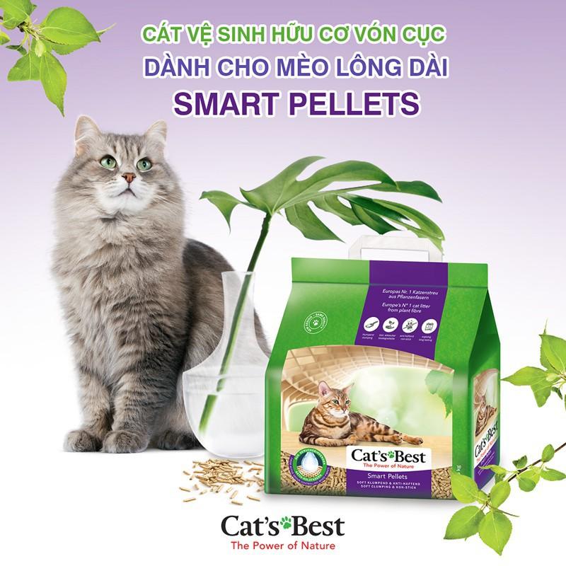 Lót ổ vệ sinh cho mèo lông dài Cats Best Smart Pellets 5kg (10lit)