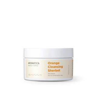 Aromatica [DATE: Th.09/2021] – Orange Cleansing Sherbet   sáp tẩy trang mùi hương cam Aromatica
