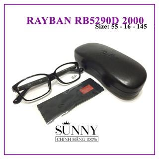 GỌNG KÍNH CHÍNH HÃNG RAYBAN RB5290D-2000 (KÈM TEM CHỐNG HÀNG GIẢ CỦA BỘ CÔNG AN CẤP)