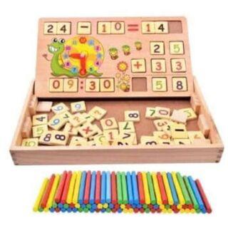 Bảng gỗ học toán
