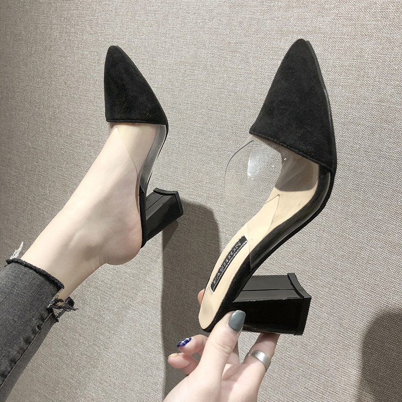 Baotou Half-slippers Women wear the new Korean version of Ba