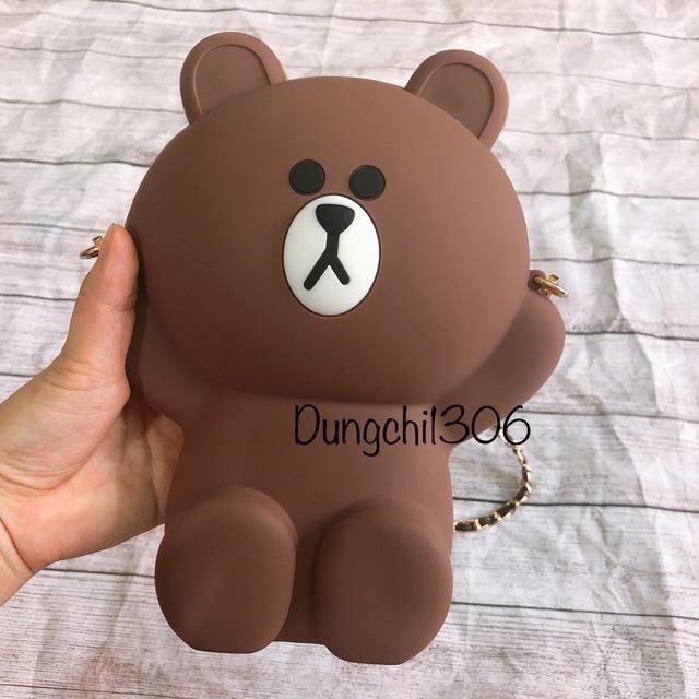 Túi gấu Brown hot hit (2 dây)