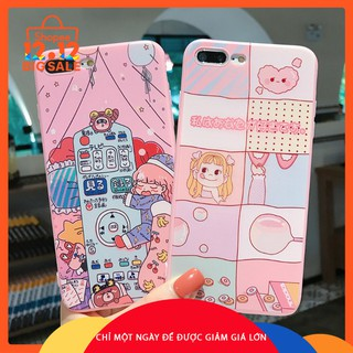 iPhone 7plus 8plus Cartoon Casing iPhone X 6plus 6splus 7 8 6 6s Cute Girl Cover