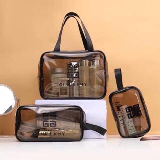 Combo 3 túi nhựa đựng đồ đi chơi,du lịch tiện dụng thumbnail