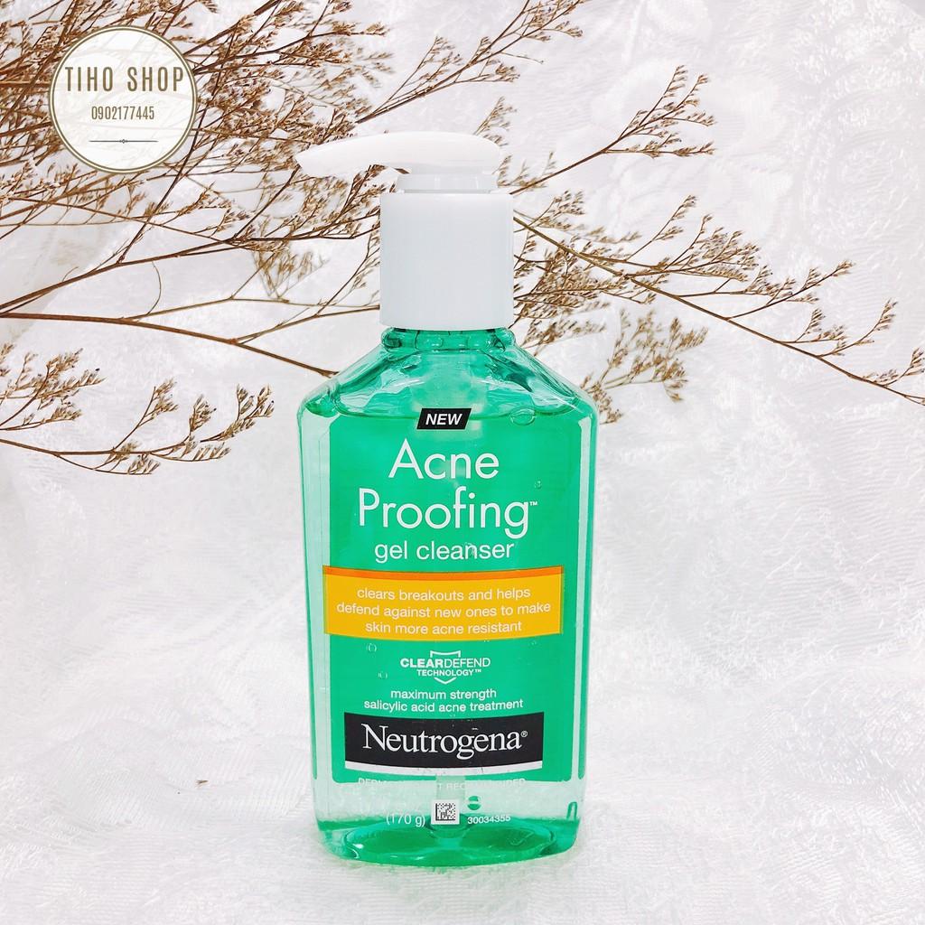 Sữa Rửa Mặt Neutrogena Acne Proofing Gel Cleanser 170g