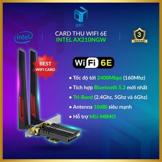 Card Thu WiFi 6E Intel AX210 NGW [Tri-Band 2.4/5/6Ghz ▪ Tốc độ 2400Mbps ▪ Bluetooth 5.2]