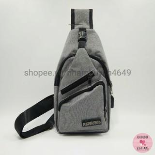 Túi đeo chéo B8010 thời trang tích hợp sẵn cổng sạc USB – Hình thật 100%