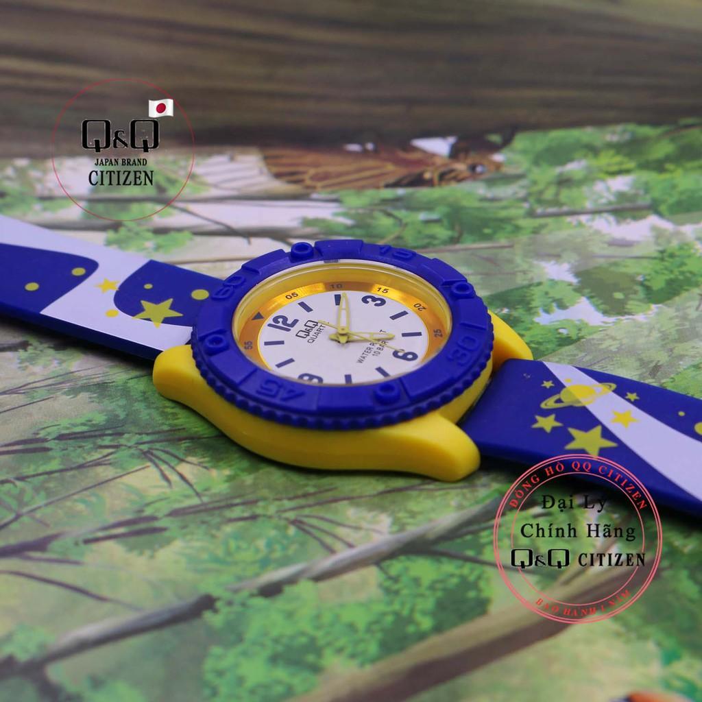 Đồng hồ trẻ em Q&Q Citizen VQ96J dây nhựa thương hiệu Nhật Bản