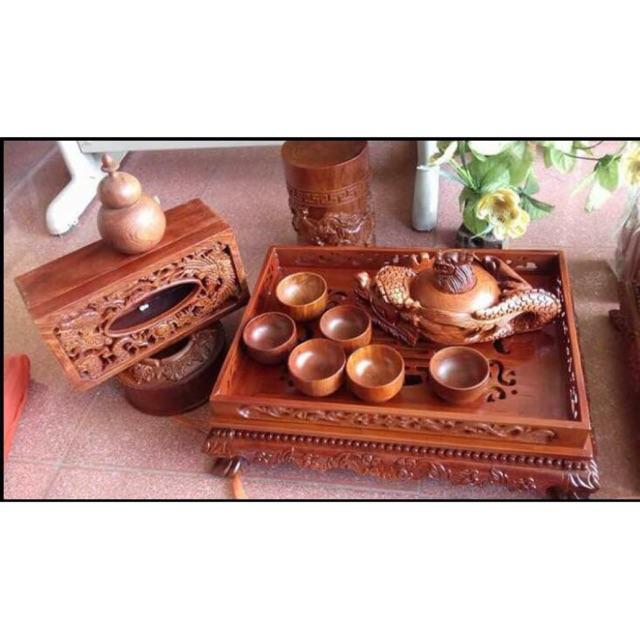 Bộ khay ấm trà hộp giấy gạt tàn lọ tăm bằng gỗ hương trầm cao cấp quý hiếm(quà tặng độc đáo ý nghĩa) - 9990565 , 840154460 , 322_840154460 , 3290000 , Bo-khay-am-tra-hop-giay-gat-tan-lo-tam-bang-go-huong-tram-cao-cap-quy-hiemqua-tang-doc-dao-y-nghia-322_840154460 , shopee.vn , Bộ khay ấm trà hộp giấy gạt tàn lọ tăm bằng gỗ hương trầm cao cấp quý hiếm(