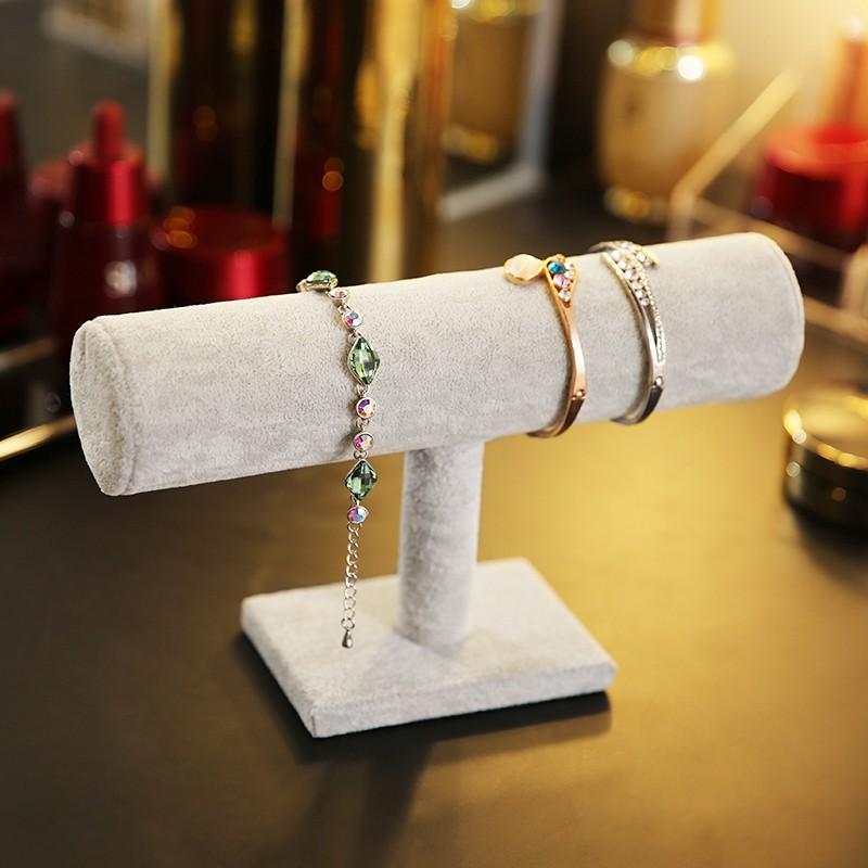 เครื่องประดับถาดข้อมือเครื่องประดับแสดงถาดนาฬิกาสร้อยข้อมือโซ่