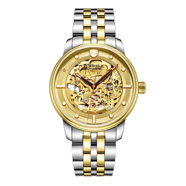 Đồng hồ nam chính hãng TOPHILL TW079G.S6958 - Dây thép - kính Saphire
