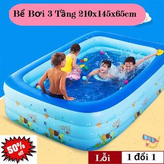 Bể Phao Bơi Trong Nhà 3 Tầng Kích Thước 210cm Loại Dày