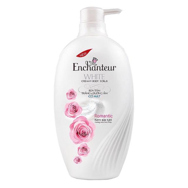 Sữa Tắm Enchanteur Trắng Và Dưỡng Ẩm Có Hạt Romantic (650g)