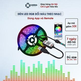 [Mã SKAMA8 giảm 8% đơn 300K] Đèn led Tiktok đổi màu RGB 10m, 5m IP65 cảm biến nhạc, kết nối bluetooth