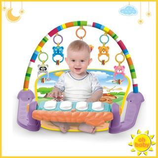 3 in 1 Fitness Baby Toddler Gym Play Mat Lay Play Music And Lights Fun Piano