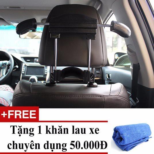 Mắc treo áo vest trên xe ô tô + tặng 01 khăn lau xe chuyên dụng