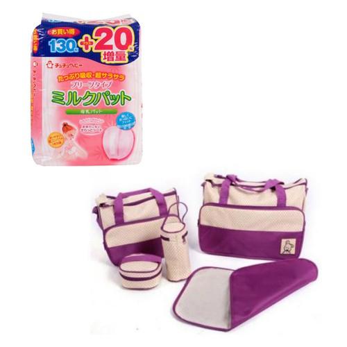 Bộ miếng lót thấm sữa Chuchu 150 miếng và Túi đựng đồ cho mẹ và bé 5 chi tiết Shopconcuame (Tím) - 2794201 , 161569412 , 322_161569412 , 675000 , Bo-mieng-lot-tham-sua-Chuchu-150-mieng-va-Tui-dung-do-cho-me-va-be-5-chi-tiet-Shopconcuame-Tim-322_161569412 , shopee.vn , Bộ miếng lót thấm sữa Chuchu 150 miếng và Túi đựng đồ cho mẹ và bé 5 chi tiết Sh