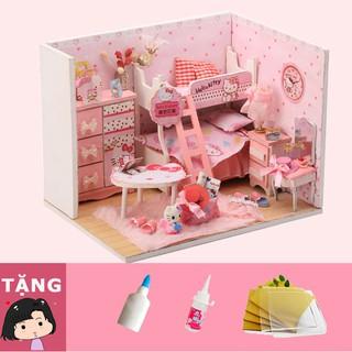Mô Hình Nhà Gỗ DIY Phòng ngủ Kitty