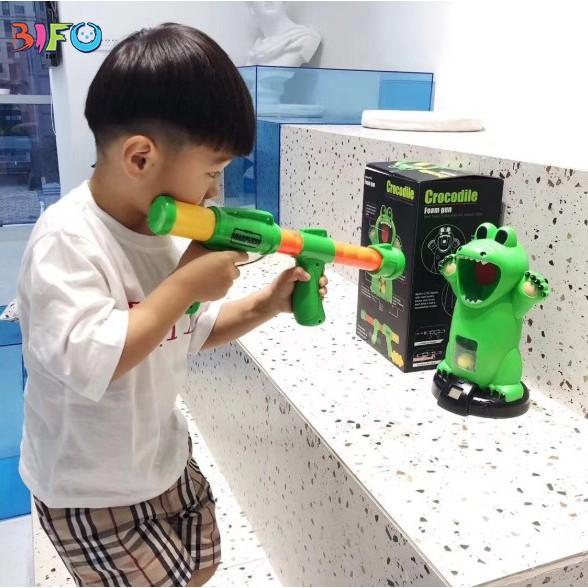 [DEAL ĐỘC QUYỀN] Bộ đồ chơi bắn bóng CROCODILE - Đồ chơi cá sấu tinh nghịch