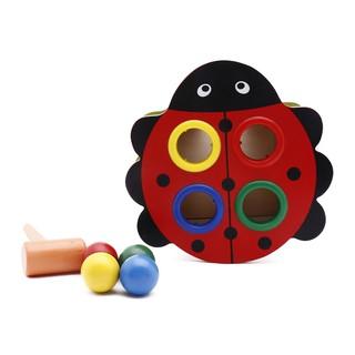 Đồ chơi gỗ đập bóng hình con bọ