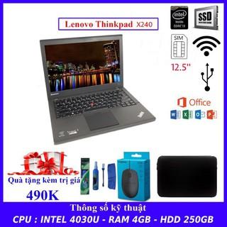 [Mã ELCL3MIL giảm 5% đơn 3TR] Máy Tính Laptop Lenovo Thinkpad X240 Intel i3-4030U Ram 4GB. hàng nhập khẩu siêu bền