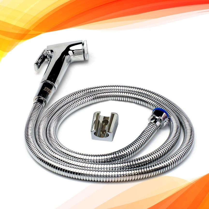 Vòi xịt vệ sinh cao cấp, kèm dây dẫn và đế cài JIKAS JK-9020