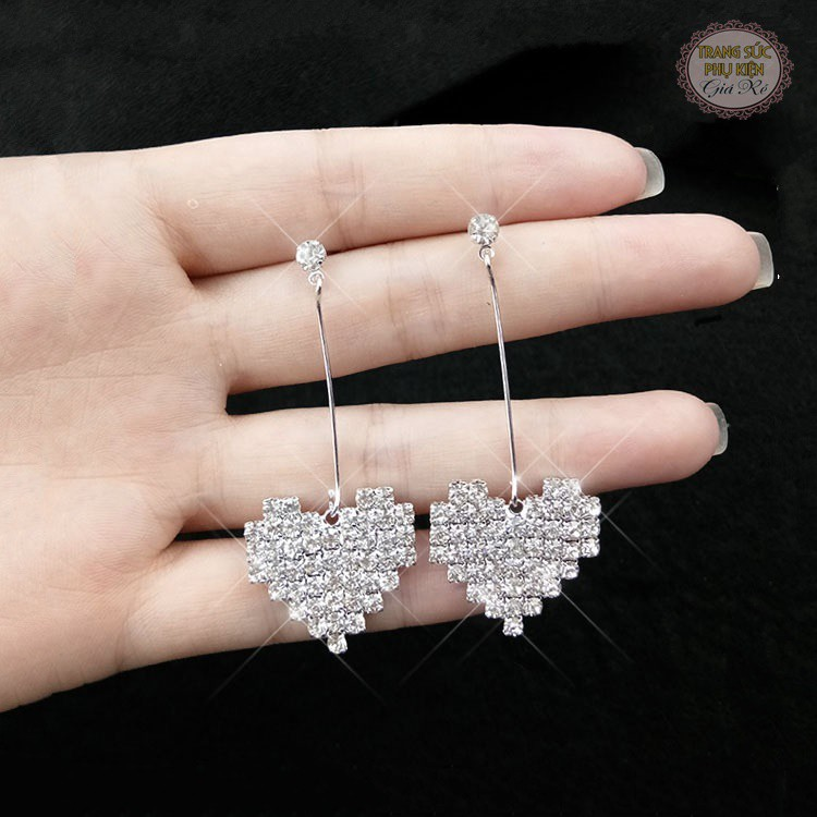 Bông tai nữ thời trang Hàn Quốc HT129, mẫu mới xinh xắn, giá rẻ