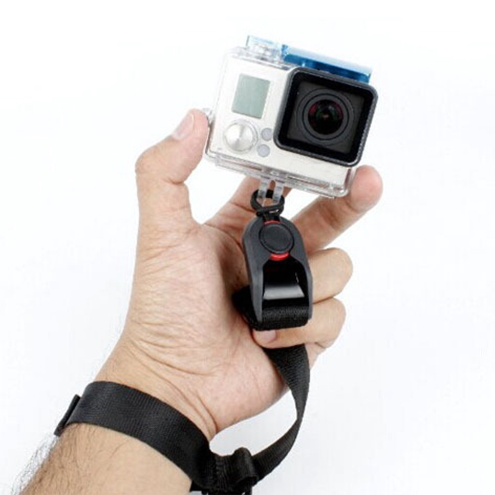 Safety Universal Wrist Belt Shoulder Black Quick Release Adjustable Elastic For GoPro Hero 4/3+