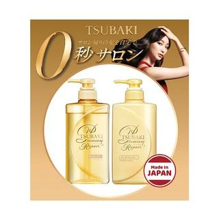 Hình ảnh Combo gội xả và kem xả Phục hồi ngăn rụng tóc Premium Repair Tsubaki (490mlx2 + 180g)-4