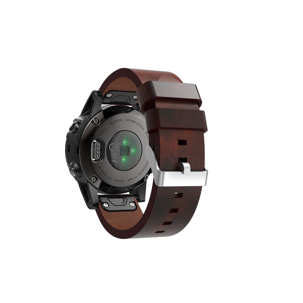 Garmin Fenix 5 Easy Fit Band Genuine Leather 22mm Quick Release Watch Strap