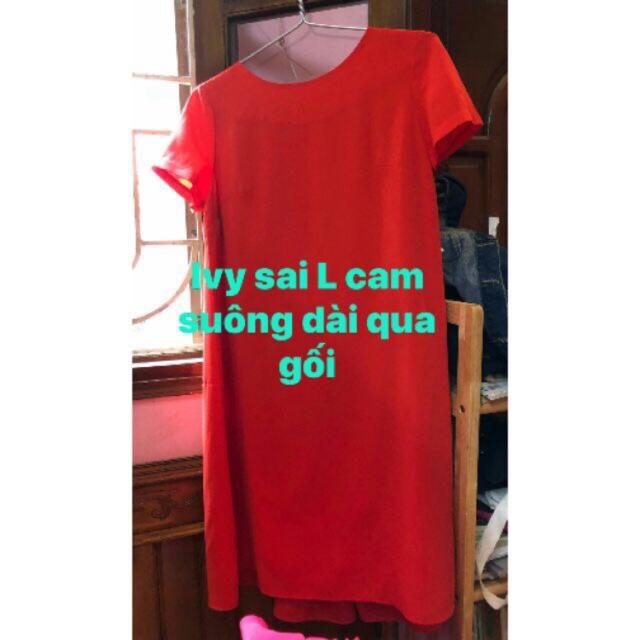 Váy suông Ivy sz L màu đỏ cam