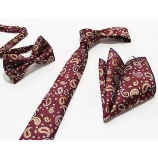 Set cà vạt bản nhỏ cao cấp