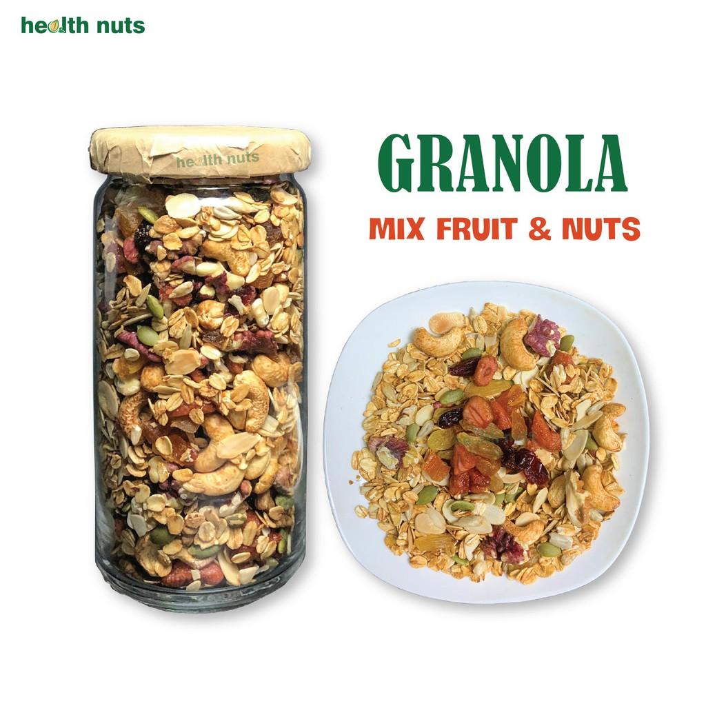 Granola 8 hạt, thêm dâu tây, óc chó đỏ