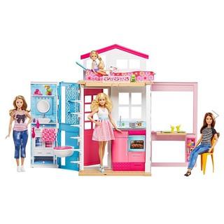 Ngôi nhà búp bê Barbie DVV47 bổ sung cho bộ sưu tập búp bê yoga có khớp made to move