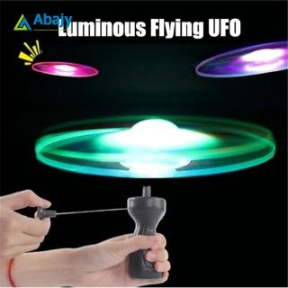 Luminous Spinning Flying UFO LED Light Handle Flash Funny Toys for Kids Outdoor Game Random Color