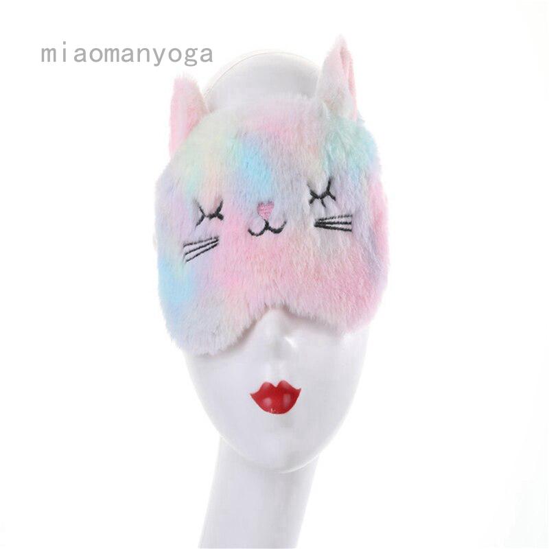 (hàng Mới Về) Mặt Nạ Bịt Mắt Mèo Dễ Thương Dùng Khi Đi Du Lịch