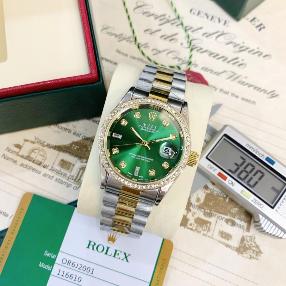 [Mã FAGREAT55 giảm tới 50K đơn 250K] [rolex nam] Đồng hồ nam Rolex - viền đá dây kim loại chống nước - DH501 MTP-STORE