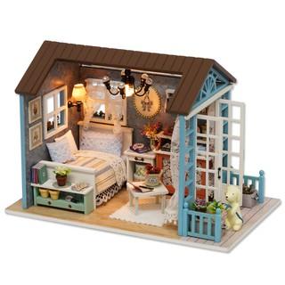 Mô hình nhà gỗ lắp ráp búp bê DIY – Kèm mica – Z007 Forest Time