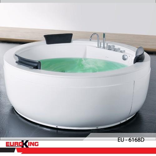Bồn tắm massage cao cấp Euroking EU-6168D, bảo hành chính hãng 02 năm, bao vận chuyển và lắp đặt, giá sản phẩ