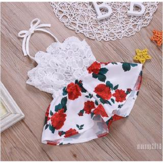 Mu♫-Infant Baby Girl Sleeveless Romper Bodysuit Jumpsuit Outfit Clothes Playsuit