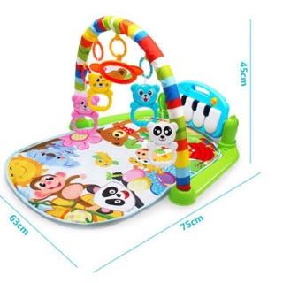 Thảm nhạc cao cấp cho bé nằm chơi có nhạc và đồ chơi lục lạc