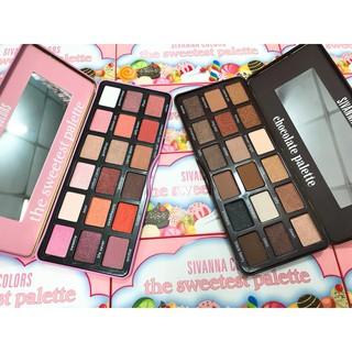Phấn mắt Sivanna Color Chocolate và Sweetest Palette 18 ô Thái Lan thumbnail