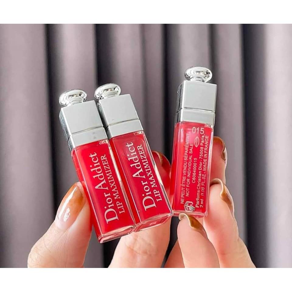 Set Son Dưỡng Môi Dior Collagen Addict Lip Maximizer 015 Mini ( Unbox )