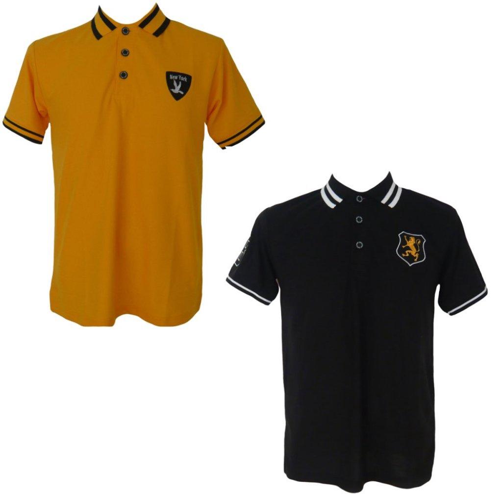 เสื้อโปโลปักเลข8 แขนขวา แพ๊คคู่ (Newyorkเหลือง + สิงห์ดำ)สื้อโปโลปักเลข8 แขนขวา แพ๊คคู่ (Newyorkเหลือง + สิงห์ดำ)