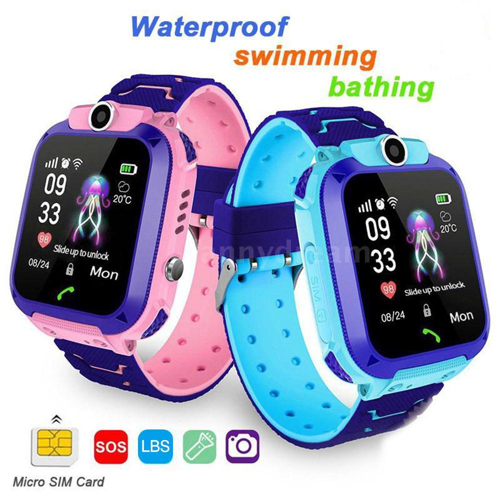 Q12 Kids smart watch นาฬิกาเด็ก ใส่ซิมโทรฯได้ พร้อม GPS กันน้ำ IP67 (ลงน้ำได้) ติดตามตำแหน่ง และไฟฉาย