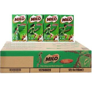 Thùng 48 hộp Sữa milo hộp nhỏ 110ml (110ml x 48 hộp)