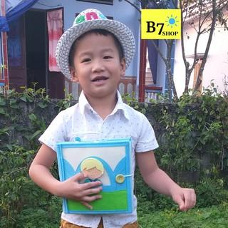 Đồ chơi giáo dục-Hàng xuất khẩu-Sách vải cho bé học kỹ năng sống-Một ngày của bé trai– Dành cho bé từ 2 – 6 tuổi