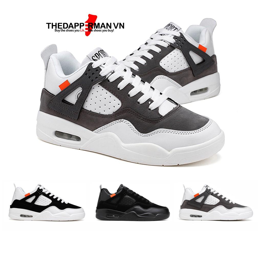 Giày sneaker nam thể thao THEDAPPERMAN TDM194 chất liệu da lộn, đế air cao su nhiệt dẻo, siêu êm, siêu bền,màu trắng xám