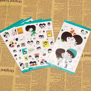 L1 5 Sheets/set Funny Kid's Toy Diary Accessories Cute Fashion DIY Stickers